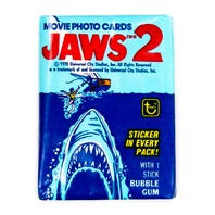 Jaws 2 Vintage Trading Cards ONE Wax Pack 1978 Topps  Shark