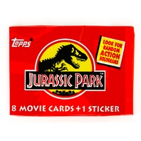 Jurassic Park Vintage Trading Cards ONE Wax Pack 1983 Topps Movie Dinosaur