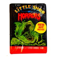 Little Shop of Horrors Vintage Trading Cards ONE Wax Pack 1986 Topps