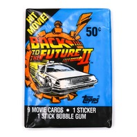 Back to the Future 2 Vintage Trading Cards ONE Wax Pack 1989 Topps  Movie McFly