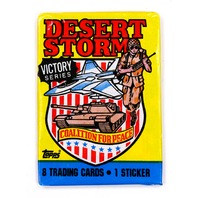 Desert Storm Victory Series Vintage Trading Cards ONE Wax Pack 1991 Topps