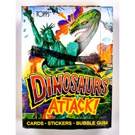 Dinosaurs Attack Vintage Trading Cards TWO Wax Packs 1988 Topps T Rex Dinosaur