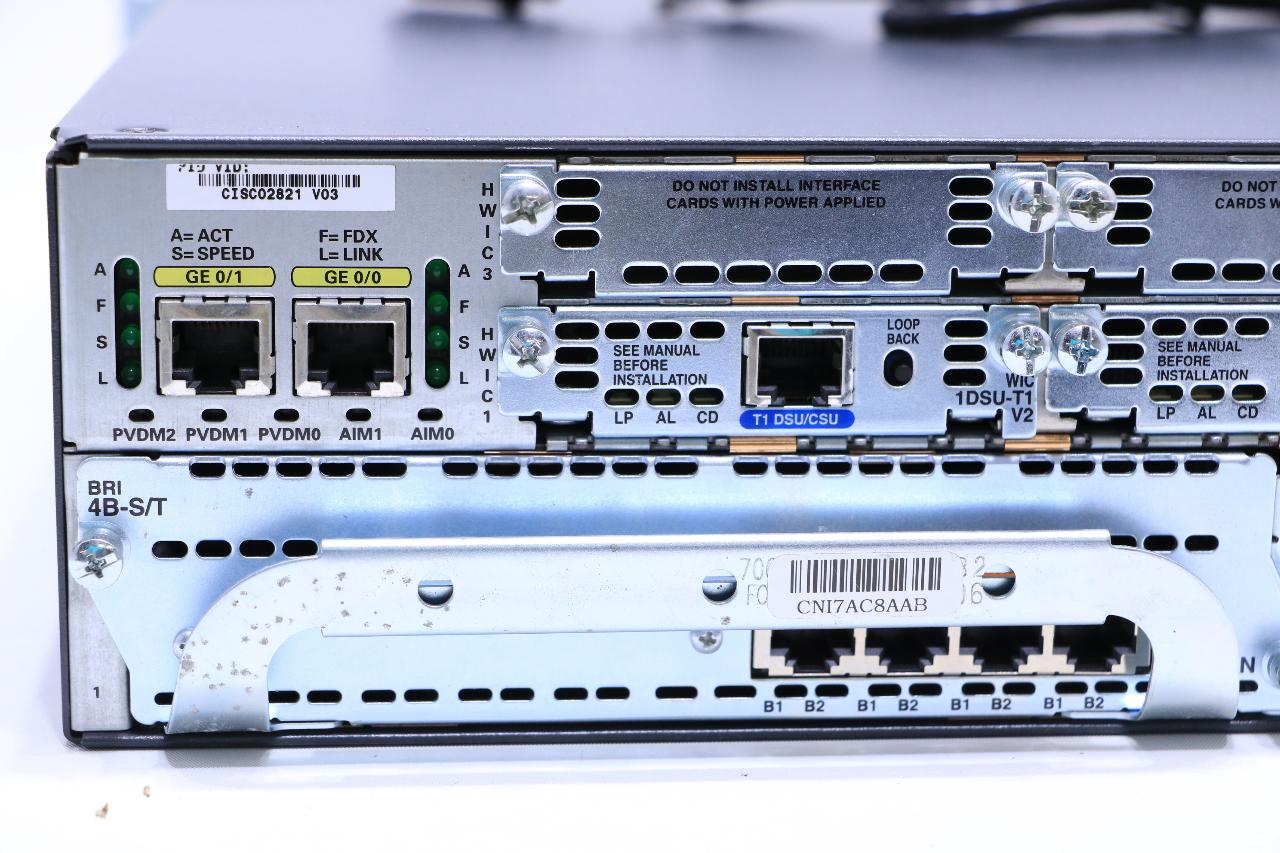 CISCO 2821 NETWORK ROUTER W/ 256 MB FLASH CARD | Premier ...