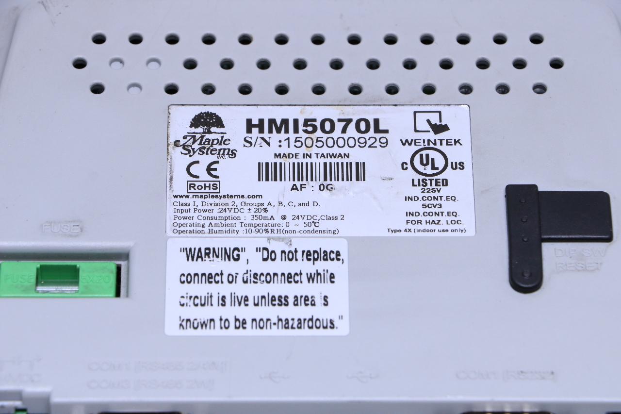MAPLE SYSTEMS HMI5070L GRAPHIC HMI 7