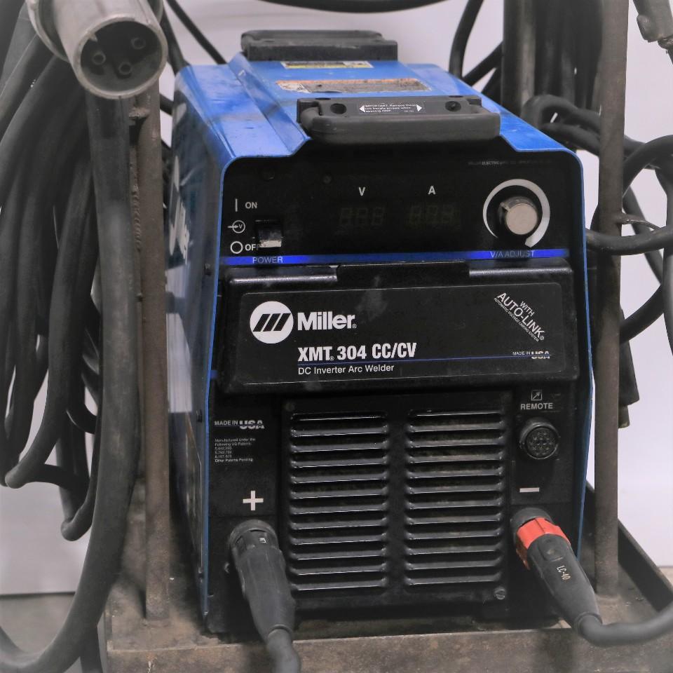 Miller Arc Welder >> Miller Xmt 304 Cc Cv W Auto Link Dc Inverter Arc Welder W Cart