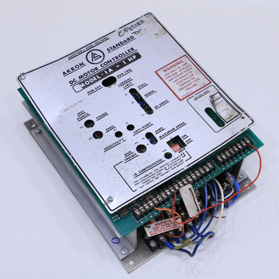 AKRON STANDARD 1A-1HP DC STANDARD DC MOTOR CONTROLLER | Premier Equipment on
