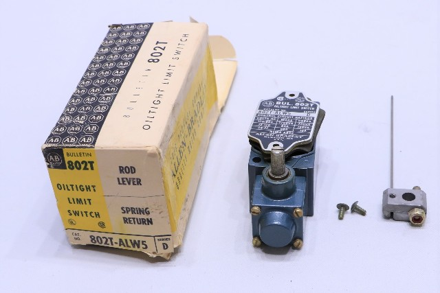 * NEW ALLEN BRADLEY 802T-ALW5 OILTIGHT LIMIT SWITCH