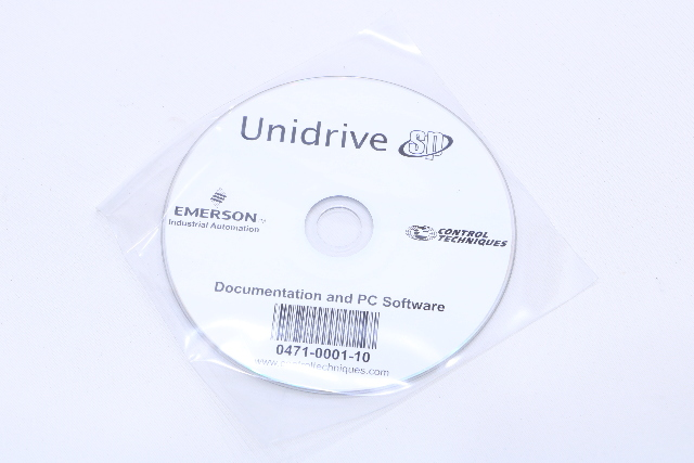 NEW EMERSON UNIDRIVE 0471-0001-10 CD DOCUMENTATION AND PC SOFTWARE