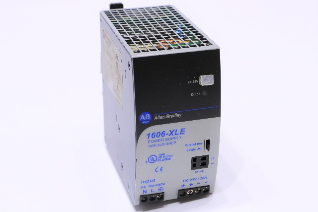 * ALLEN BRADLEY 1606-XLE480EP SER A POWER SUPPLY 24VDC OUTPUT
