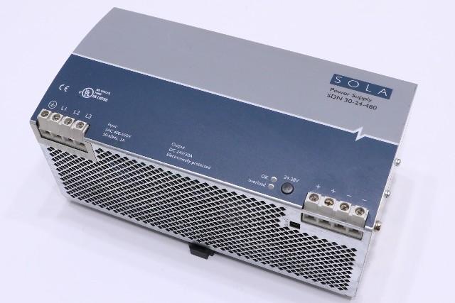 * SOLA SDN30-24-480 POWER SUPPLY 24VDC 20A *WARRANTY*