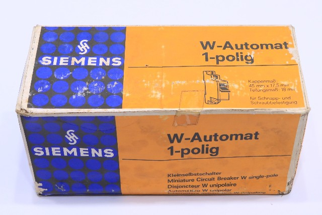 * NEW QTY. (6) SIEMENS 5SP3162 G16 W G 16A 380V CIRCUIT BREAKER W-AUTOMAT 1-POLING