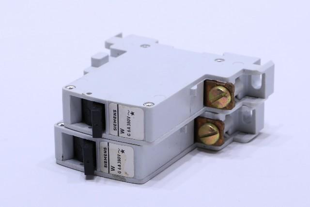 * NEW QTY. (2) SIEMENS 5SP3132 G W G 6A 380V CIRCUIT BREAKER W-AUTOMAT 1-POLING