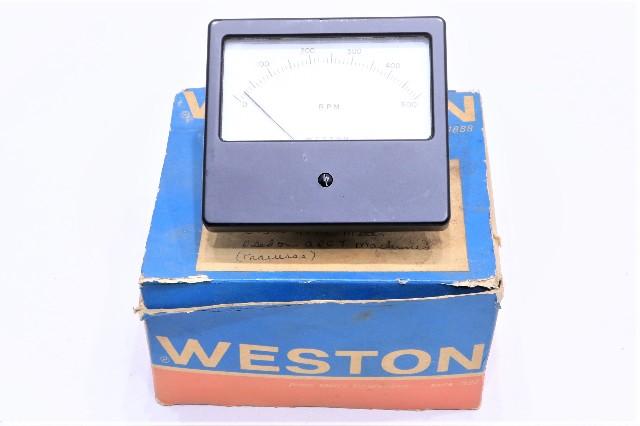 * WESTON 0-500 RPM 4621999 PANEL METER