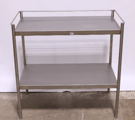 """* STAINLESS STEEL STAND TABLE 34"""" x 18"""" x 32-1/2"""" BOTTOM SHELF"""