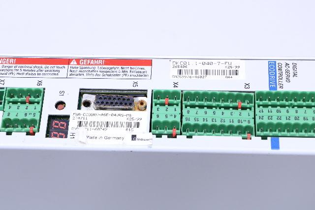Indramat DKC01.1-040-7-FU Digital AC Servco Controller EcoDrive DKC0110407FU