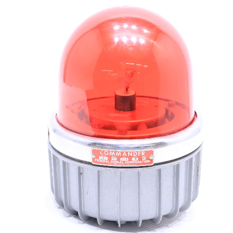 * FEDERAL SIGNAL 371DST RED WARNING STROBE 120V 50/60HZ .35A A1