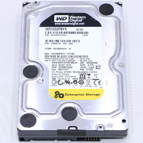 WESTERN DIGITAL WD1003FBYX-12Y7B0 RE4 1TB HARD DRIVE 3.5