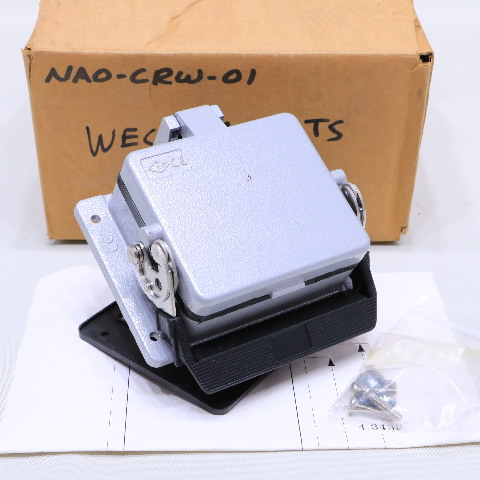 * NEW WECO NAO-CRW-02 OUTDOOR COVER WITH DUPL RECEPT ETHERNET CNTRL NET