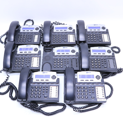 LOT OF (8) XBLUE NETWORKS X16DTE 6-LINE OFFICE PHONES