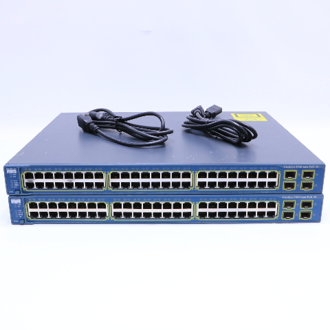 LOT OF 2 CISCO WS-C3560-48PS-S-V09 CATALYST 3560 POE 48 SWITCH