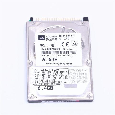 TOSHIBA MK8113MAT HDD2145 S ZF01 6.4GB  DISK DRIVE