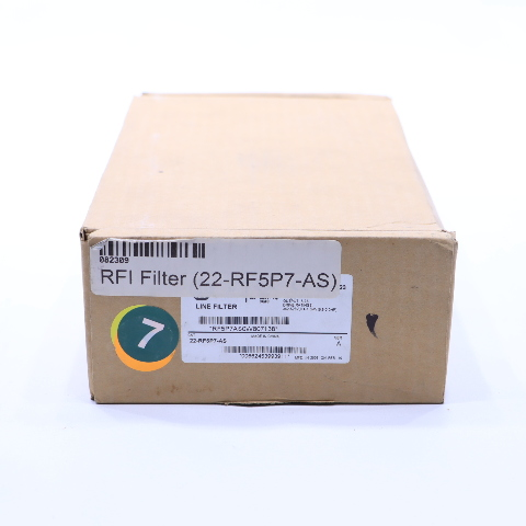 * NEW ALLEN BRADLEY 22-RF5P7-AS LINE FILTER 480V AC 3 PH 50-60 HZ 0.4-1.5 KW 0.5-2 HP