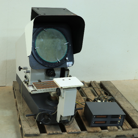 MITUTOYO PH-350 PROFILE PROJECTOR OPTICAL COMPARATOR MLP-7701W READOUT