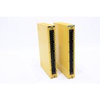 GMF ROBOTICS FANUC A03B-0801-C421 INPUT MODULE 1D16C W/ A03B-0801-C449 OUTPUT MODULE 1OD16H