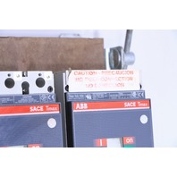 * ABB SACE TMAX TS3H-D 150A with TS3L 100A CIRCUIT BREAKERS