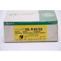 * NEW QTY. (1) KLOCKNER MOELLER DIL R 40/22 CONTACTOR 190-220V COIL