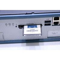 CISCO 2821 NETWORK ROUTER W/ 256 MB FLASH CARD
