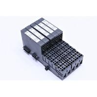 * LOT OF (5) SIEMENS 6ES7 131-4BD01-0AA0 W/ TM-E15C26-A1 BLOCK