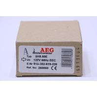 * NEW AEG SH8.80E 120V COIL 60Hz 8 POLE EEC CONTACTOR 910-302-619-220