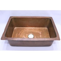 "- HAND HAMMERED COPPER FARM SINK W/ BEAUTIFUL APRON 30"" x 20"""