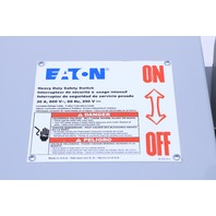* EATON DH361URK 30A 3P 600V N3R 30A/3P HEAVY DUTY NON-FUSIBLE SAFETY