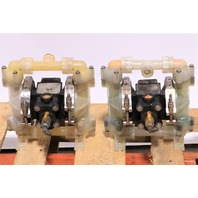 "`` QTY.(1) SANDPIPER PB1/2-A TGR-3-PP 1/2"" DOUBLE DIAPHRAGM PUMP"
