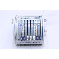 VINTAGE PAYMASTER X550 CHECK STAMPING MACHINE /W KEY