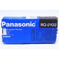 * NEW PANASONIC RQ-2102 SLIMLINE CASSETTE RECORDER