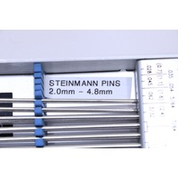 * BRASSELER USA STEINMANN PINS 2.00mm - 4.8mm KM-9703 STERILIZATION CASE