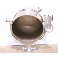 * GROEN D-40 STAINLESS STEEL 40 GAL DIRECT STEAM TILTING KETTLE PEDESTAL BASE