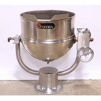 * GROEN D-40 STAINLESS STEEL 40 GAL DIRECT STEAM TILTING KETTLE PEDESTAL BASE