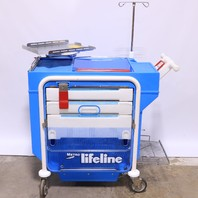 * METRO LIFELINE LEC 51 EMERGENCY CRASH CART W/ TRAY IV POLE #2