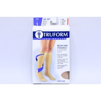 * TRUFORM 20-30 mmHg BELOW KNEE STOCKINGS XL X-LARGE 8865-XL BEIGE