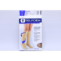 * TRUFORM 20-30 mmHg BELOW KNEE STOCKINGS L LARGE 8865-L BEIGE