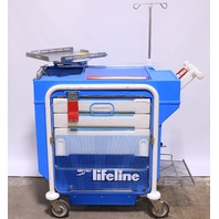 * METRO LIFELINE LEC 51 EMERGENCY CRASH CART W/ TRAY IV POLE #4