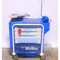 * METRO LIFELINE LEC 51 EMERGENCY CRASH CART W/ TRAY IV POLE #5
