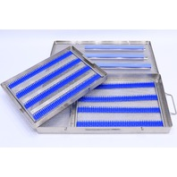 * CASE MEDICAL STAINLESS STEEL SURGICAL INSTRUMENT STERILIZATION TRAY CASE 20 x 10-1/2 x 2""