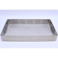 """* STAINLESS STEEL SURGICAL INSTRUMENT STERILIZATION TRAY CASE BASE 24x13x3-1/2"""""""