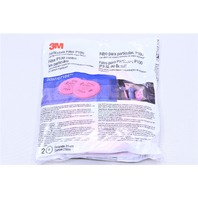 * NEW 3M P100 PARTICULATE FILTER PACK OF 2 EXP. DATE 11/2017 FOR 6000