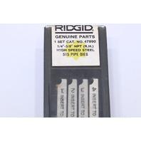 "* RIDGID 47890 1/4""-3/8"" NPT 1 SET HIGH SPEED 515 PIPE DIES RIGHT HAND"